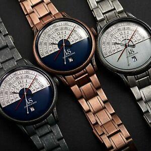 【送料無料】腕時計 メンズジョシュアアンティークステンレススチールクロノグラフウォッチmens joshua amp; sons jx153 chronograph antique finish stainless steel watch