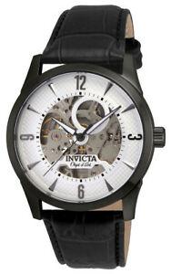 【送料無料】腕時計 オブジェ#;#タイプラウンドホワイトオートマチックブラックレザーウォッチ