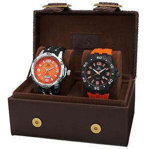 【送料無料】腕時計 ジョシュアメンズクォーツストラップウォッチポイントjoshua amp; sons jx113or men's quartz date strap watch set