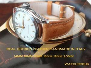 【送料無料】腕時計 ビンテージリアルオーストリッチレザーストラップreal ostrich leather strap for vintage
