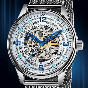 【送料無料】腕時計 エリートスケルトンブラックウォッチ