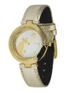 【送料無料】腕時計 パリドーレブレスレットスワロフスキーエレメントmoog paris montre femme avec cadran blanc, elments swarovski, bracelet dor