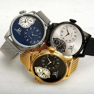 【送料無料】腕時計 メンズジョシュアデュアルタイムステンレスメッシュウォッチmens joshua amp; sons jx154 multifunction dual time stainless steel mesh watch