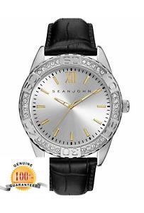 【送料無料】腕時計 メンズボンドブラックレザーストラップウォッチ