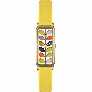 【送料無料】腕時計 ステムゴールドレディースストラップorla kiely stem gold ladies leather strap watch ok2158