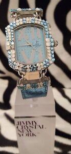 【送料無料】腕時計 luxury watch jimmy crystal adorned with swarovski crystalopal 538 blue glitz
