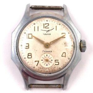 【送料無料】腕時計 ビンテージソゼンマイケースソvintage soviet chaika windup watch unusual case ussr *us seller* 1134