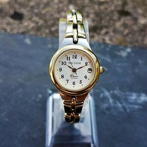 【送料無料】腕時計 ウォルサムレディースヴィンテージウィンドウゴールドスティールブレスレットwaltham classics womens vintage watch, date window and gold and ssteel bracelet