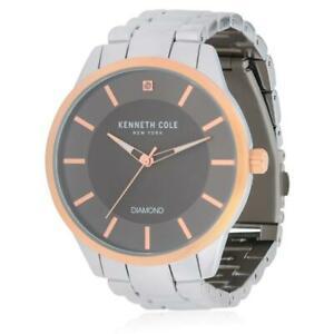 【送料無料】腕時計 ケネス#ステンレススチールブレスレットゴールドトーンスチールケースクオーツkenneth cole men039;s steel bracelet gold tone steel case quartz watch kc50239001