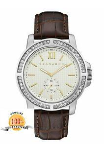 【送料無料】腕時計 ベニスブラウンレザーストラップウォッチsean john mens venice brown leather strap watch sjc0172001 0400
