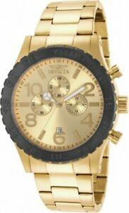 【送料無料】腕時計 クロノグラフイエローゴールドスチールウォッチinvicta gents 15160 specialty chrono yellow gold steel watch