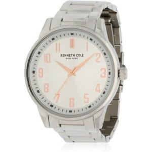 【送料無料】腕時計 ケネス#ステンレススチールブレスレットケースクオーツアナログウォッチkenneth cole men039;s steel bracelet amp; case quartz analog watch kc50240001