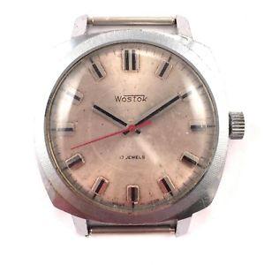 【送料無料】腕時計 ビンテージソヴォストークカジュアルクラシックソvintage soviet vostok windup watch casual classic made in ussr *us seller* 1215