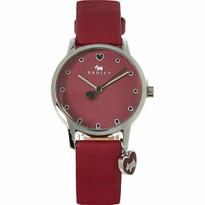 【送料無料】腕時計 ロンドンベリーレッドレザーアナログ¥radley london berry red leather love heart dog charm analogue watch rrp 100