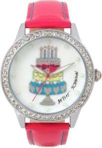 【送料無料】腕時計 ジョンソンハッピーバースデーピンクストラップ betsey johnson happy birthday to me pink strap crystal watch bj00131155