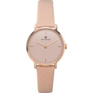【送料無料】腕時計 レディースストラップaccurist ladies leather strap watch   8225