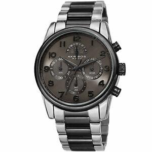 腕時計 メンズクロノグラフトーンステンレススチールブレスレットmens akribos xxiv ak1042ttb chronograph two tone stainless steel bracelet watch