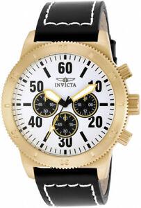 【送料無料】腕時計 メンズクォーツクロノステンレススチールレザーウォッチinvicta mens specialty quartz chrono 100m stainless steelleather watch 16756