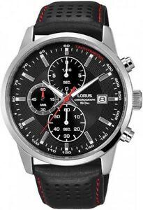 【送料無料】腕時計 クロノグラフレザーストラップウォッチlorus gents chronograph leather strap watch rm335dx9