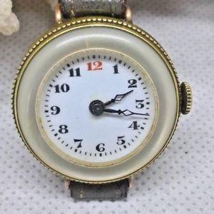 【送料無料】腕時計 アンティークパールホブスイスantique swiss fob converted wrist watch 191520 mother of pearl