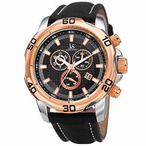 【送料無料】腕時計 メンズジョシュアクロノグラフレザーストラップウォッチmens joshua amp; sons jx109rgb chronograph date complication leather strap watch