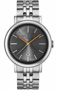 【送料無料】腕時計 テッドベーカーメンズアナログシルバーストーンラウンドスチールスチールブレスレットted baker mens analog round steel watch silvertone steel bracelet 10031511