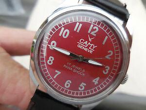 【送料無料】腕時計 ジュネーブパフェancienne camy geneve mecanique suisse mixte bombe de 17 rubis,parfait tat mcan