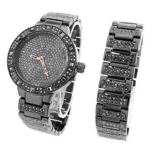 【送料無料】腕時計 メンズカスタムヒップホップデザインマッチングブレスレット
