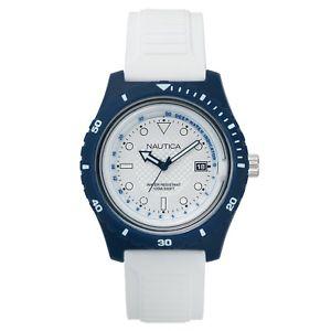 【送料無料】腕時計 メンズイビサウォッチ nautica mens ibiza white resin watch