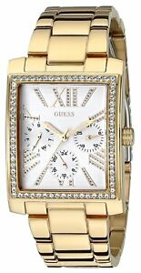 【送料無料】腕時計 ゴールドトーンクリスタルguess womens goldtone w dazzling crystal sparkle watch u0446l2