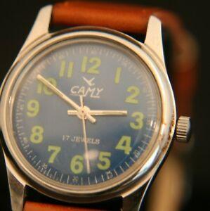 【送料無料】腕時計 ヴィンテージメンズジュネーブスイスvintage mens restored serviced 1970s 17j camy geneve swiss military wristwatch