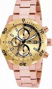 【送料無料】腕時計 メンズラウンドローズゴールドトーンクロノグラフアナログウォッチinvicta specialty 17755 mens round rose gold tone chronograph date analog watch