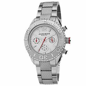 【送料無料】腕時計 パターンスチールブレスレットwomens akribos xxiv ak695ss multifunction pattern etched steel bracelet watch
