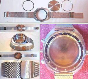 【送料無料】腕時計 クロノグラフミリタリービンテージケースpoljot 3133 sturmanskie valjoux 7734 chronograph case watch military vintage nos