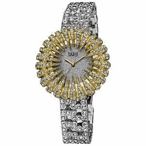 【送料無料】腕時計 バールトーンブレスレット womens burgi bur054yg dazzling crystalaccented twotone bracelet watch