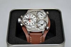 【送料無料】腕時計 シルバーブラウンクォーツdetomaso triplo dt2035 silver brown 5 atm quartz uvp 289