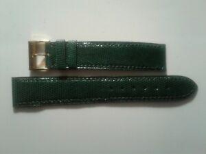 【送料無料】腕時計 ブレスレットメインカミーユbracelet pour montre en lzard vert t 18 cousu main camille fournet