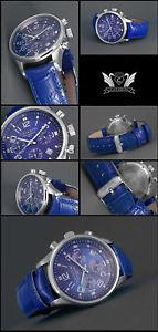 【送料無料】腕時計 メンズクロノグラフステンレスバーアラビアskymaster herrenchronograph cavadini, edelstahl, 5 bar, arabisch, in 4 farben