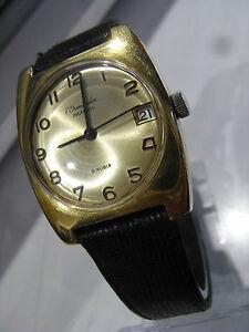 【送料無料】腕時計 voverstraeten,ancienne montre suisse mecanique eta,21 rubis,guichet date