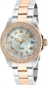 【送料無料】腕時計 クリスタルトーンスチールブレスレットinvicta 21322 womens angel two tone steel bracelet crystal watch