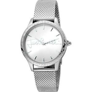【送料無料】腕時計 キャバリロゴシルバーメッシュorologio donna just cavalli logo jc1l023m0065 bracciale acciaio silver mesh