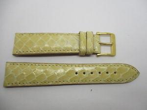 【送料無料】腕時計 ブレスレットベージュウエストbracelet montre en serpent veritable beige brillant taille 18 mm