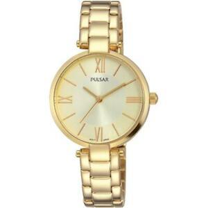 【送料無料】腕時計 パルサー#ゴールドトーンスチールブレスレットケースクオーツアナログフェーズウォッチpulsar women039;s 29mm goldtone steel bracelet amp; case quartz analog watch ph82