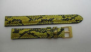 【送料無料】腕時計 ブレスレットウエストbracelet montre en python veritable jaune et noir taille 14 mm