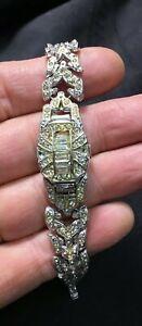 送料無料 腕時計 アンティークリアルファンシーレディースブレスレットウォッチantique cass 17 jewel incablocreal fancy ladies bracelet watchE9HD2IWY