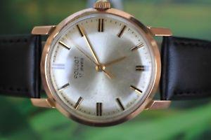 【送料無料】腕時計 ビンテージ#ロシアvintage men039;s goldplated russian poljot kirowskie watch 17 jewels
