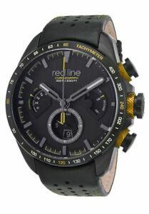 【送料無料】腕時計 #レッドラインキックダウンクロノグラフブラックゴールドボックス