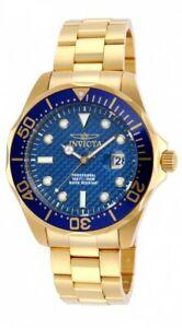【送料無料】腕時計 メンズプロダイバーkゴールドウォッチinvicta mens 14357 pro diver 18k gold ionplated watch