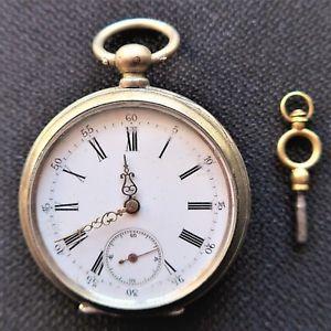 【送料無料】腕時計 herrentaschenuhr mit schlsselaufzug, verschleierscheinungen, ca 1880