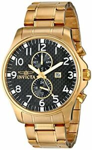 【送料無料】腕時計 メンズコレクションステンレススチールinvicta mens 0382 ii collection 18k goldplated stainless steel watch